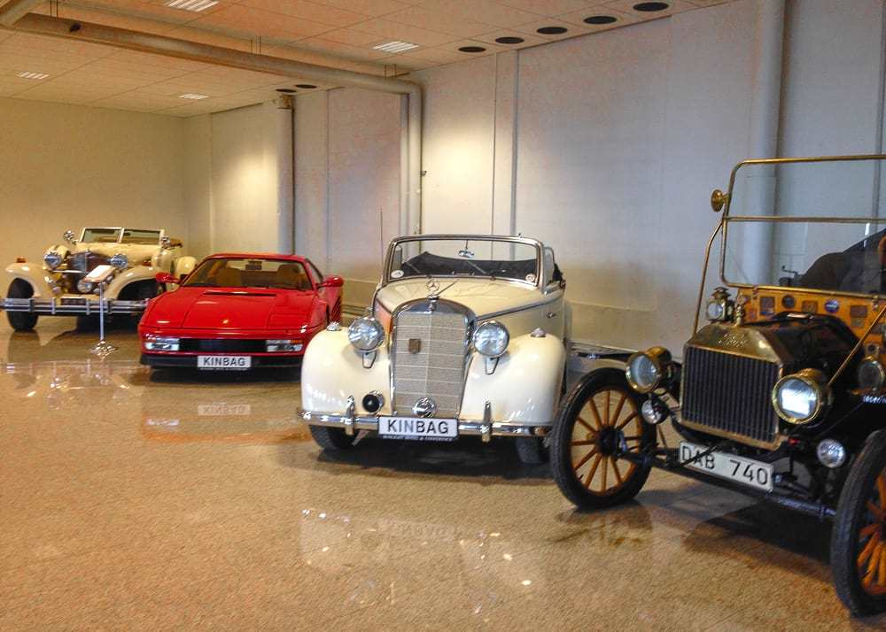 Vintage car collection at Sunlight Hotel in Nykoping