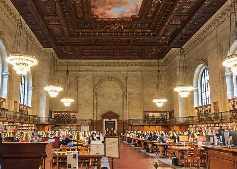 The Hall of New York Public Library - 4 days in Manhattan itinerary