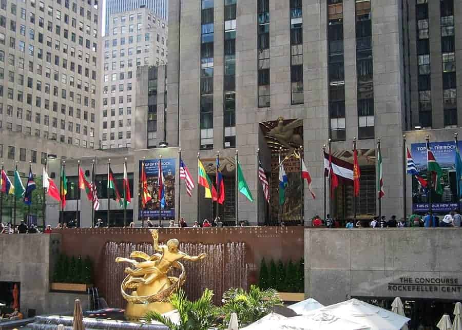 the Rockefeller Center in New York
