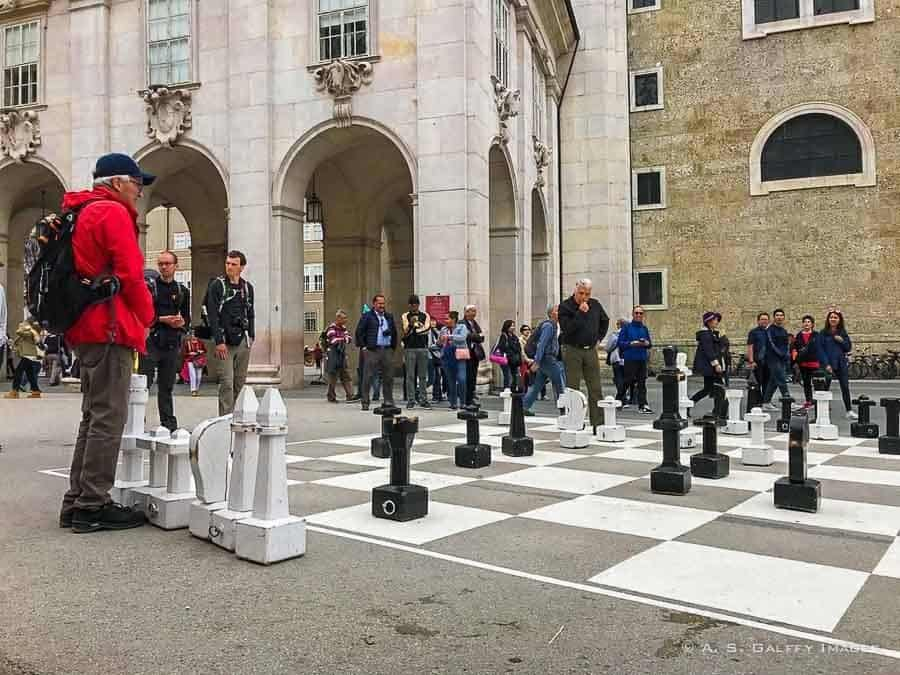 Playing chess in Chapter Square