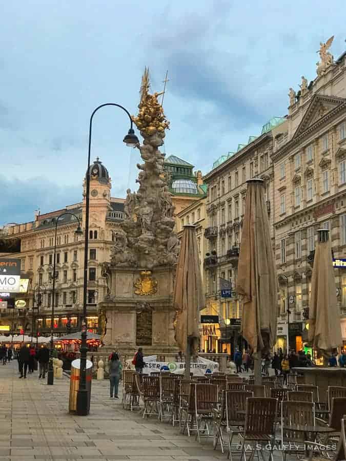 The Plague Column on Graben, in Vienna