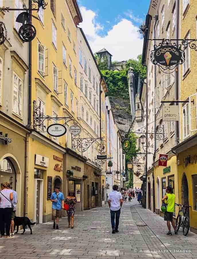 Grain Lane in Salzburg Old Town