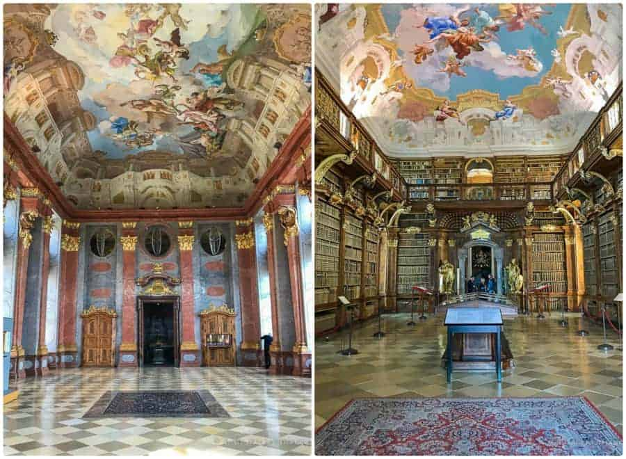 Day trip to Melk from Salzburg - view of the Marble hall at Melk Abbey