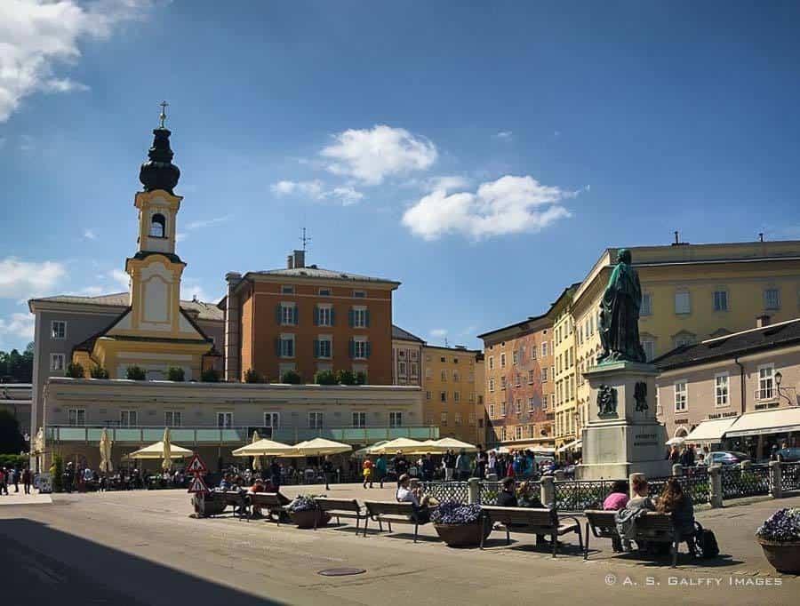Mozartplatz in Salzburg Old Town