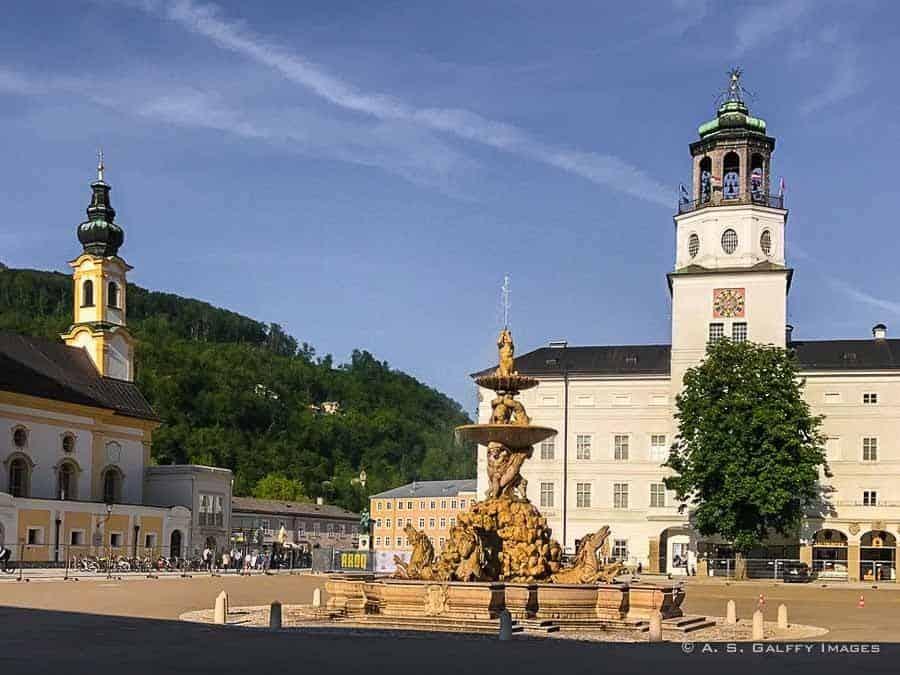 Residenz Square in Old Town Salzburg