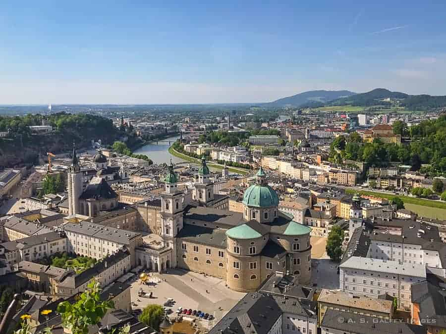 View of Salzburg old town