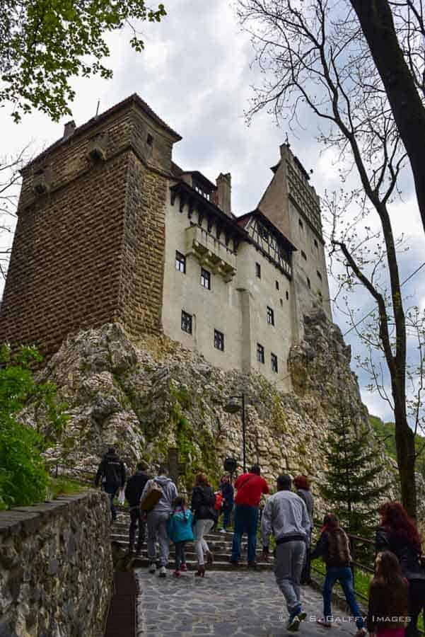 view of Bran Castle in Romania