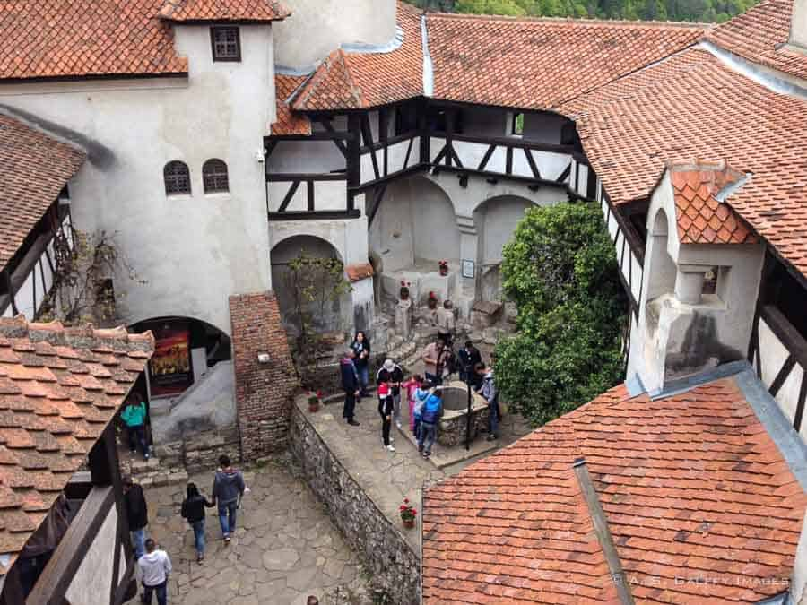 interior courtyard at Bran Castle