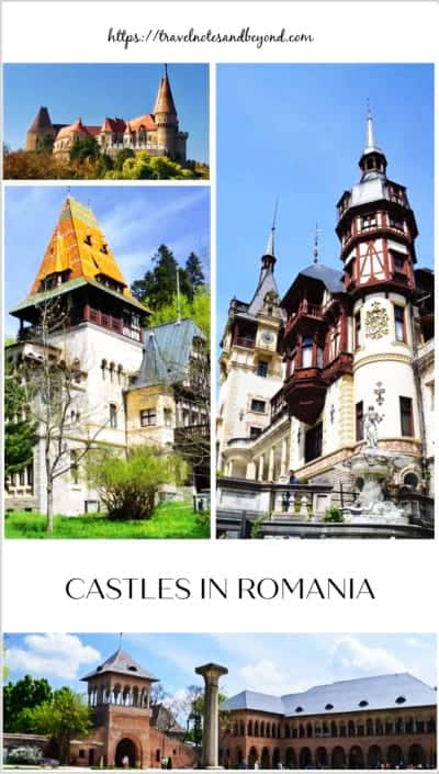 Castles in Romania pin