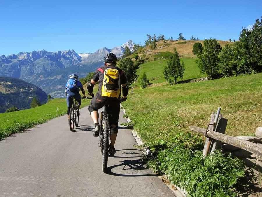 Biking in Zermatt