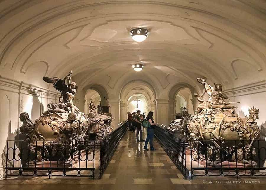 View of the Imperial Crypt in Vienna