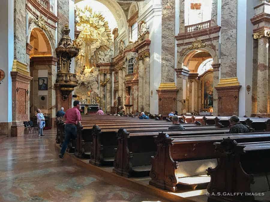 Interior view of Karlskirche in Vienna