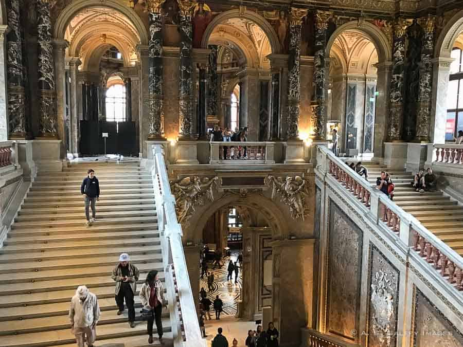 Grand Staircase at the Museum of Fine Art in Vienna