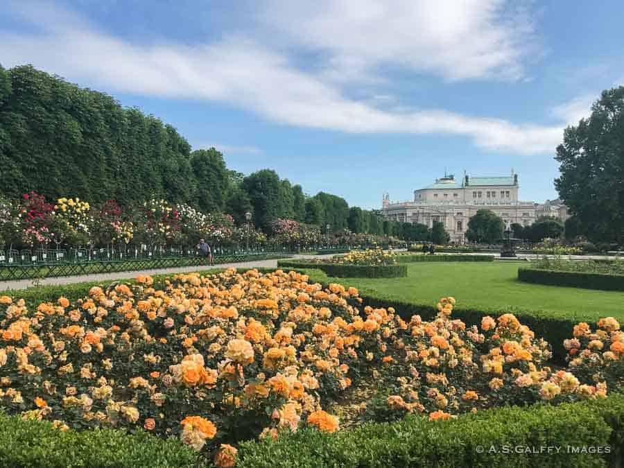 3 Days in Vienna - view of Volksgarten