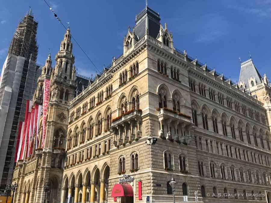view of Vienna's City Hall - 3 days in Vienna