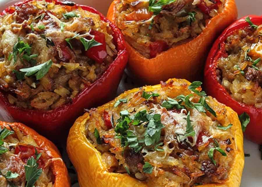 Romanian dishes - stuffed bell pepper