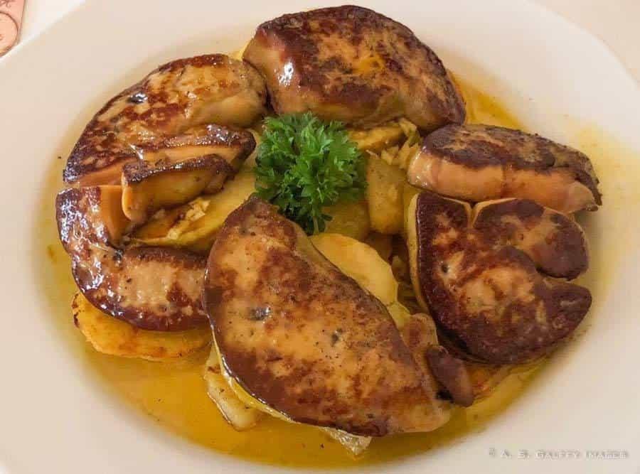 roasted goose liver
