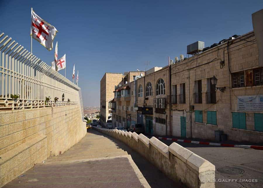 Jerusalem street on a weekend