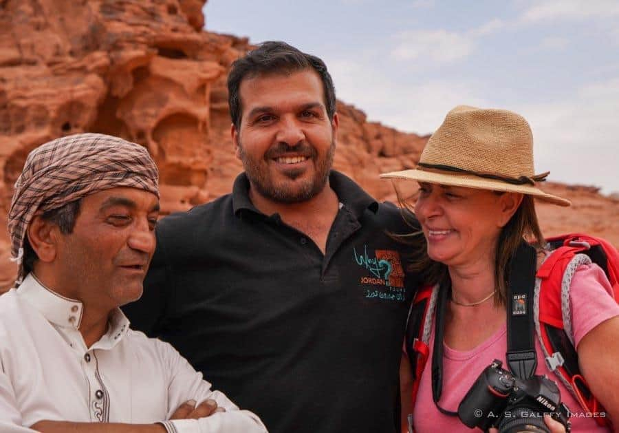 Fun with the tour guides in Jordan