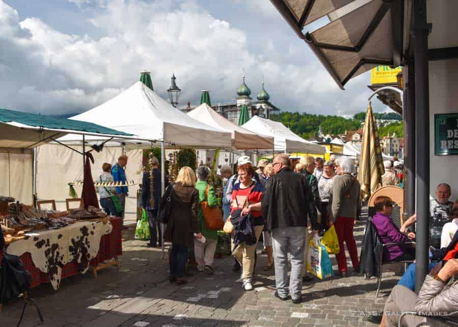 Farmers' Market in Lucerne
