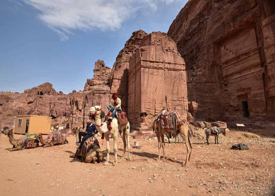 Tombs and temples in Petra