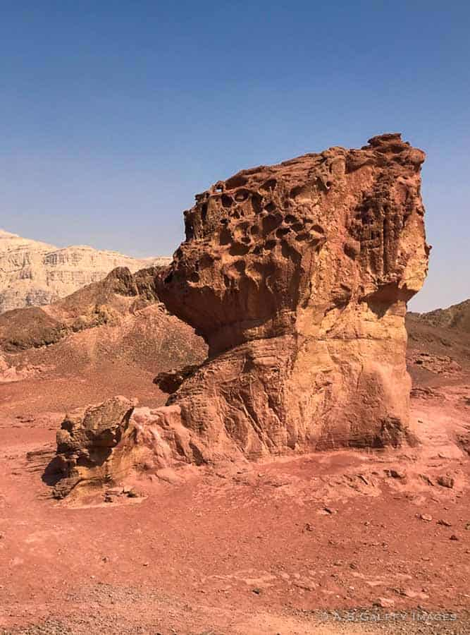 Red rock formation in Timna Park, Israel