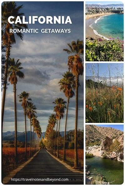 California romantic getaways