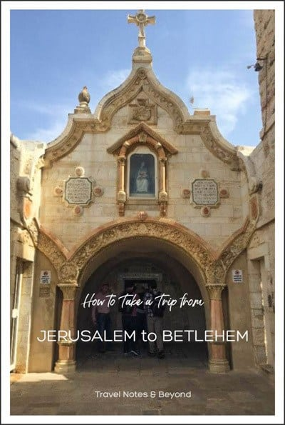 Jerusalem to Bethlehem pin