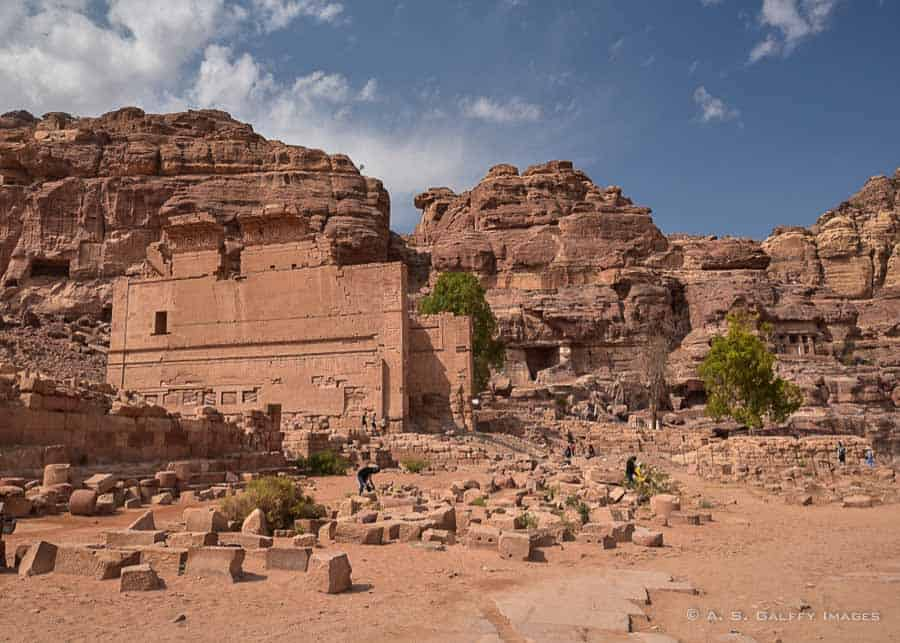 The Temple of Dushares in Petra