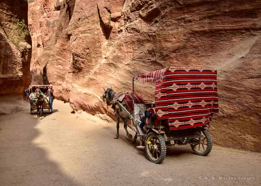 Carriages in Petra