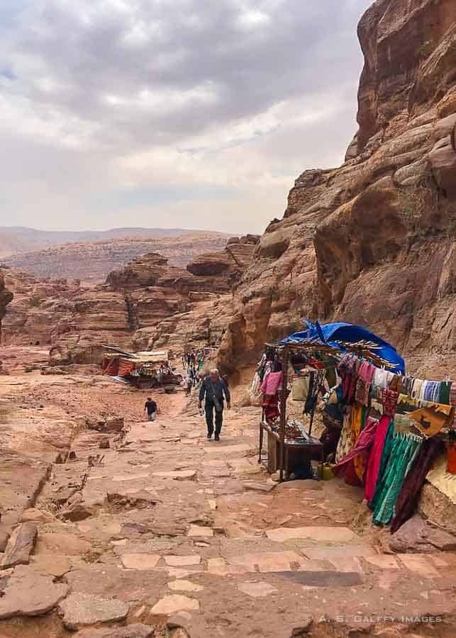 Hiking trail in Petra