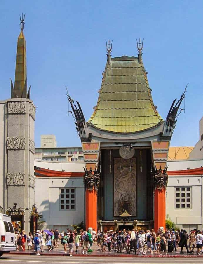 View of the Chinese Theater in Los Angeles