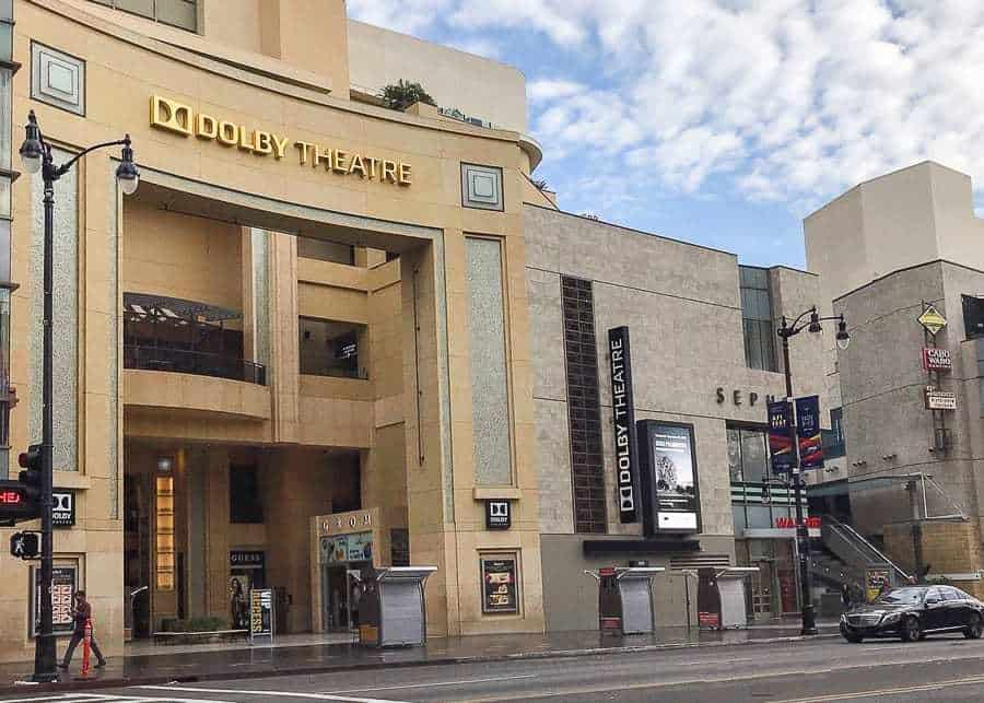 the Dolby Theater - Los Angeles Itinerary