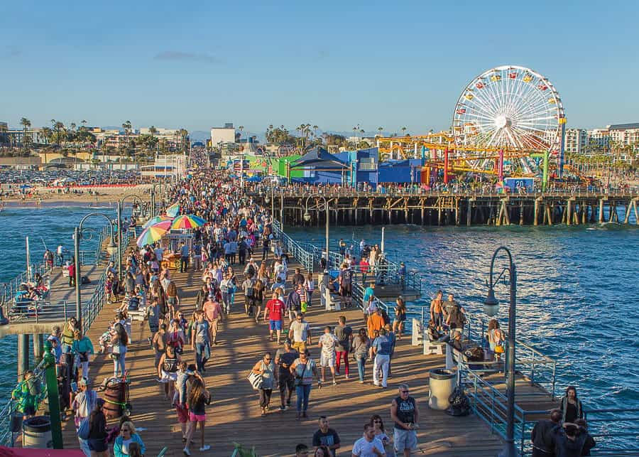 Santa Monica Pier in Los Angeles