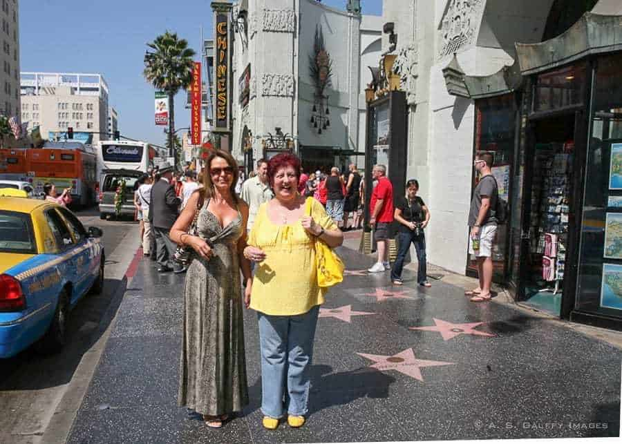 The Hollywood Walk of Fame in Los Angeles