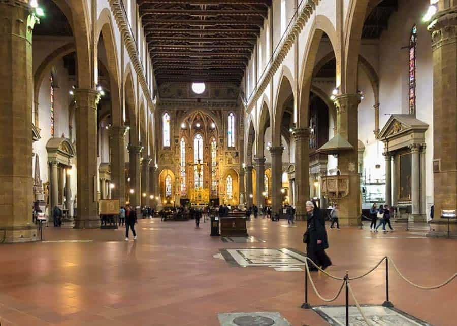 inside the Basilica di Santa Croce
