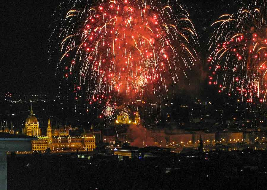 New Year's Eve Fireworks in Budapest