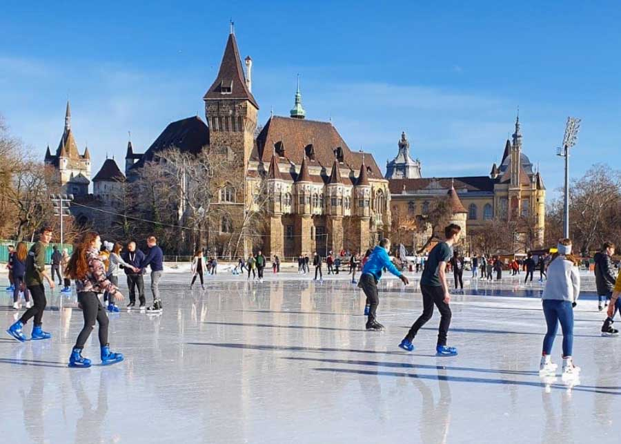 Things to do in Budapest in winter: Ice Skating