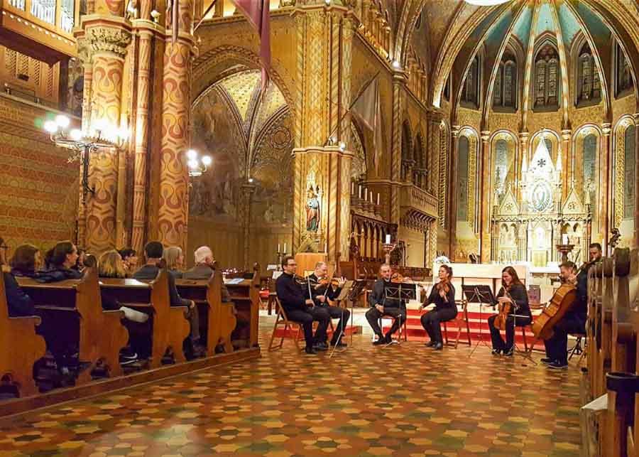 Attending a Christmas Concert at St. Matthias Church